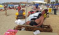 wheelchair accessible beach with Tiralo