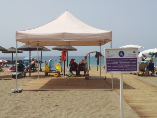 wheelchair accessible beach on Tenerife